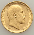 Australia, Australia: Edward VII gold Sovereign 1902-S AU,...