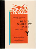 Books:Reference & Bibliography, Bradford Morrow and Seamus Cooney. SIGNED/LIMITED. ABibliography of the Black Sparrow Press, 1966 - 1978. SantaBar...