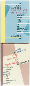 Books:Biography & Memoir, John Sanford. SIGNED/LIMITED. The Color of the Air [and:]The Waters of Darkness: Scenes from the Life of an Ame...(Total: 2 Items)