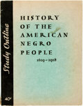 Books:Americana & American History, [African-American]. [Elizabeth Lawson]. History of the AmericanNegro People 1619-1918. [New York: Workers Book Shop...