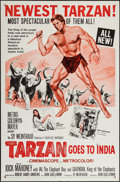 "Movie Posters:Adventure, Tarzan Goes to India & Other Lot (MGM, 1962). One Sheets (2)(27"" X 41""), Lobby Card Set of 8 (11"" X 14""). Adventure.. ...(Total: 10 Items)"