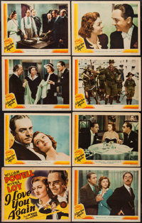 """I Love You Again (MGM, 1940). Lobby Card Set of 8 (11"""" X 14""""). Comedy. ... (Total: 8 Items)"""