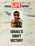 Books:Periodicals, [Israeli War] [Periodical] Life Special Edition. Israel's SwiftVictory. 1967. Original wrappers. Ink stamps to fron...