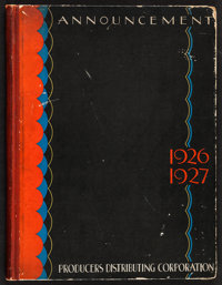 Producers Distributing Corporation Exhibitor's Book (Producers Distributing Corp., 1926). Exhibitor's Book (60 Pages, 9...