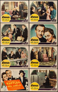 "Movie Posters:Romance, Raffles (United Artists, 1939). Lobby Card Set of 8 (11"" X 14""). Romance.. ... (Total: 8 Items)"