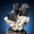 Minerals:Cabinet Specimens, SCHORL with ALBITE. Shengus, Haramosh Mts., Skardu District,Baltistan, Gilgit-Baltistan (Northern Areas), Pakistan. . ...