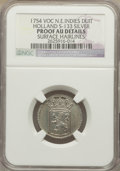 Netherlands East Indies, Netherlands East Indies: Holland Proof silver Duit 1754 Proof AUDetails (Surface Hairlines) NGC,...