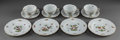 Ceramics & Porcelain, A TWENTY-FOUR PIECE HEREND PORCELAIN ROTHSCHILD BIRD PATTERN PARTIAL TEA SERVICE, 20th century. Marks to bread a... (Total: 24 Items)