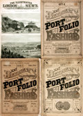 Books:Periodicals, Three Illustrated Magazines. 1870s-1890s. Original wrappers. Onewith front wrapper detached. Tattered and edgeworn. Still, ...