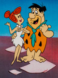 Animation Art:Presentation Cel, The Flintstones Fred and Wilma Publicity Cel Animation Art(Hanna-Barbera, c. 1970s). ...