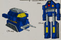 Animation Art:Color Model, Challenge of the GoBots Tank Color Model Cel Animation Art (Hanna-Barbera, 1984). ...
