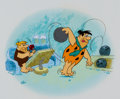 "Animation Art:Seriograph, Flintstones ""Working Late"" Limited Edition Serigraph CelAnimation Art AP #6/20 (Hanna-Barbera, 1993).... (Total: 2 Items)"