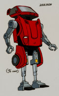 Animation Art:Color Model, Challenge of the GoBots Zee-Mon GoBot Form Color Model CelAnimation Art (Hanna-Barbera, 1984). ...