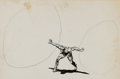 "Animation Art:Production Drawing, Marvel Superheroes Show Prince Namor the Sub-Mariner ""Quest for the X-Atom"" Production Drawing Animation Art (Grantray..."