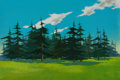 Animation Art:Painted cel background, Heidi's Song Master Production Painted Cel BackgroundAnimation Art (Hanna-Barbera, 1983)....
