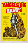 "Movie Posters:Exploitation, Angels Die Hard (New World, 1970). One Sheet (27"" X 41"").Exploitation.. ..."
