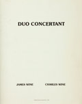 Books:Music & Sheet Music, James Wine, words. Charles Wine, music. SIGNED/LIMITED. DuoConcertant: a peace in progress. Sun & Moon Press, 1983....