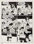 "Original Comic Art:Panel Pages, Jaime Hernandez Love and Rockets #30 ""Ninety-Three MillionMiles to Earth"" Page 14 Original Art (Fantagraphics, 19..."
