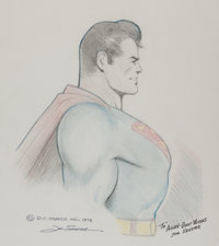 Joe Shuster - Superman Sketch Original Art (DC, 1978)