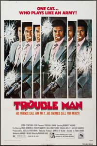 "Trouble Man (20th Century Fox, 1972). One Sheet (27"" X 41"") & Photos (6) (8"" X 10""). Blaxplo..."