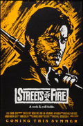 "Movie Posters:Action, Streets of Fire (Universal, 1984). One Sheets (3) (27"" X 41"")Advance Red, Green, & Orange Styles. Action.. ... (Total: 3Items)"