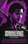 "Movie Posters:Action, Streets of Fire (Universal, 1984). One Sheets (2) (27"" X 40"", 27"" X41"") Regular PG & Purple Advance Style. Action.. ... (Total: 2Items)"