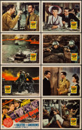 "Movie Posters:War, Crash Dive (20th Century Fox, 1943). Lobby Card Set of 8 (11"" X14""). War.. ... (Total: 8 Items)"
