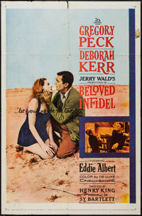 """Beloved Infidel (20th Century Fox, 1959). One Sheets (3) (27"""" X 41"""") & Lobby Card Sets of 8 (2) (11""""..."""