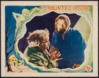 """The Haunted House (First National, 1928). Lobby Card (11"""" X 14""""). Horror"""