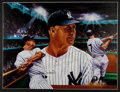 Baseball Collectibles:Others, Mickey Mantle and Willie Mays Signed Lithographs Lot of 2....