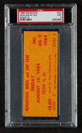 """Miscellaneous Collectibles:General, 1969 Woodstock """"Music and Art Fair"""" August 15 Full Ticket PSA Mint 9...."""