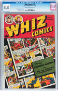 Golden Age (1938-1955):Superhero, Whiz Comics #92 (Fawcett Publications, 1947) CGC VF 8.0 Off-white to white pages....