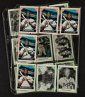 Baseball Cards:Sets, 1983 ASA Hank Aaron Story Cards Set - With Four Signed Examples....