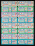 Baseball Collectibles:Tickets, 1955 Chicago White Sox World Series Phantom Tickets From CharlesComiskey II Collection Lot of 4 Uncut Sheets of 4 Each....