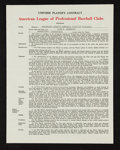 Baseball Collectibles:Others, 1959 Luis Aparicio Unsigned Contract From Charles Comiskey IICollection....