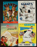 Baseball Collectibles:Publications, 1950's Baseball Yearbooks and Bobby Thomson Signed Comic Book(4)....