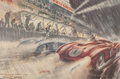 Automobilia, TWO GEO HAM 1954 LE MANS REPRINT POSTERS SIGNED BY DRIVERSTRINTIGNANT AND GONZALEZ. Ham, Geo . Event Poster - 17-1/2 x 12i... (Total: 2 Items)