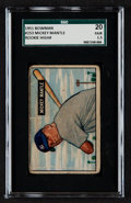 Baseball Cards:Singles (1950-1959), 1951 Bowman Mickey Mantle #253 SGC 20 Fair 1.5....