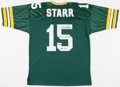 Football Collectibles:Uniforms, Bart Starr Signed Green Bay Packers Jersey....