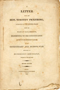 Books:Americana & American History, Pickering, Timothy: A LETTER FROM...SENATOR OF THE UNITED STATES,FROM THE STATE OF MASSACHUSETTS, EXHIBITING TO HIS CONSTIT...