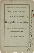 Books:Americana & American History, Bleckley, L.E.: TRUTH AT THE BAR, AN ADDRESS DELIVERED BEFORE THEGEORGIA BAR ASSOCIATION, AT ITS ANNUAL MEETING IN ATLANTA,...