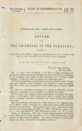 Books:Americana & American History, Louisville and Portland Canal: LETTER FROM THE SECRETARY OF THETREASURY...CALLING FOR INFORMATION AS TO THE CONDITION AND A...