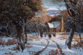 Paintings, MARTIN GRELLE (American, b. 1954). On a Cold Winter Morning, 1981. Acrylic on canvas. 20 x 30 inches (50.8 x 76.2 cm). S...