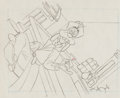 Animation Art:Production Drawing, How To Be A Detective Goofy Production Drawing Animation Art(Walt Disney, 1952)....