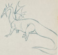 Animation Art:Production Drawing, Sleeping Beauty Maleficent as Dragon Production DrawingAnimation Art (Walt Disney, 1959). ...