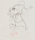 Animation Art:Production Drawing, Mickey's Rival Minnie Mouse Production Drawing Animation Art(Walt Disney, 1936)....