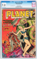 Golden Age (1938-1955):Science Fiction, Planet Comics #67 (Fiction House, 1952) CGC FN/VF 7.0 Off-whitepages....