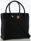 Luxury Accessories:Bags, Chanel Black Caviar Leather Tote Bag. ...