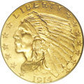 Indian Quarter Eagles: , 1914 $2 1/2 MS64 PCGS. The 1914 has the second lowest mintage in the series with only 240,000 pieces produced. As such, it ...
