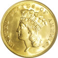 Three Dollar Gold Pieces: , 1888 $3 MS65 PCGS. This coin has absolutely the most stunning eyeappeal of any coin this cataloger has seen in quite some ...